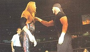 Fingerpoke of Doom - The Fingerpoke of Doom: Hollywood Hogan taps Kevin Nash on the chest
