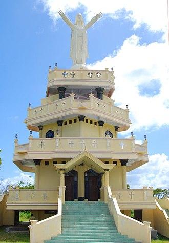 Yamdena - Image: Weluan Beach Christ Statue