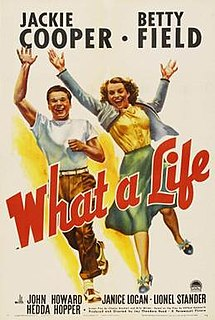 <i>What a Life</i> (film) 1939 film by Theodore Reed