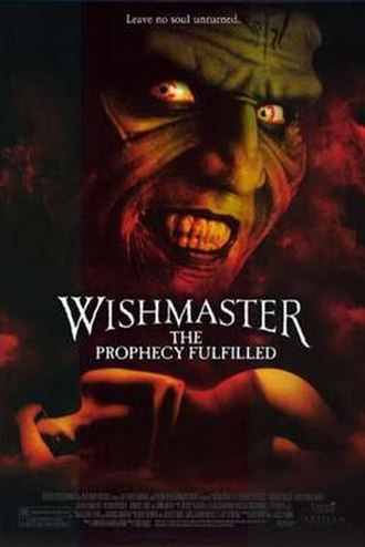 Wishmaster: The Prophecy Fulfilled - Promotional poster