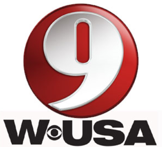 "WUSA (TV) - Logo used from 2000 to January 2013. An earlier variant, which replaced the 1980s-era ""square 9"", which dated to the days of WDVM, was colored yellow with a black numeral and was used from 1995 to 1998."