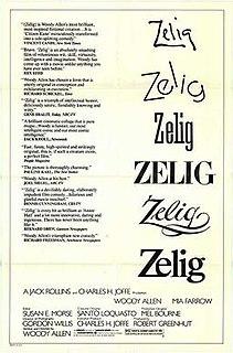<i>Zelig</i> 1983 film by Woody Allen