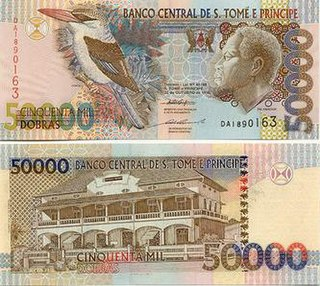 São Tomé and Príncipe dobra currency unit of the republic of São Tomé and Príncipe