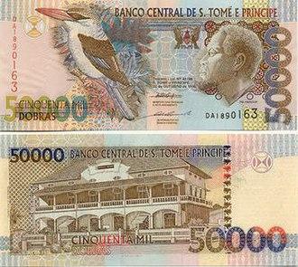 São Tomé and Príncipe dobra - Image: 50,000Dobra