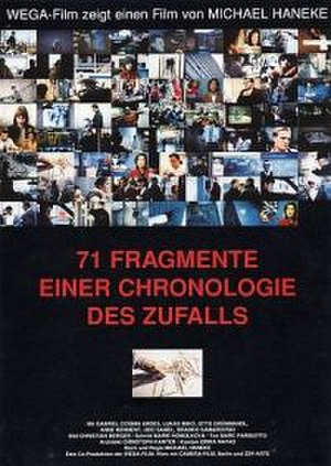 71 Fragments of a Chronology of Chance - Poster