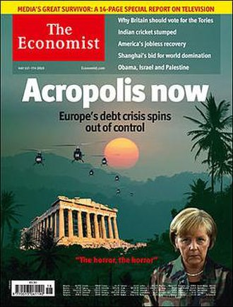 Apocalypse Now - May 1, 2010 cover of the Economist newspaper, illustrating the 2010 European sovereign debt crisis with imagery from the movie, attests to the film's pervasive cultural impact.