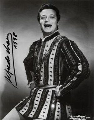 Alfredo Kraus - Alfredo Kraus as the Duke in Rigoletto at his Metropolitan Opera debut.