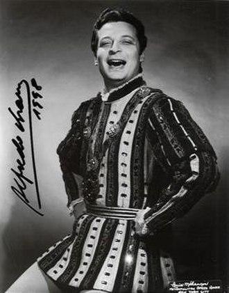 Alfredo Kraus - Alfredo Kraus as the Duke in Rigoletto at his Metropolitan Opera debut.