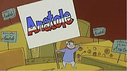 TV series title card featuring the mouse, Anatole