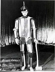 Buddy Ebsen was originally cast as the Tin Man. Ebsen fell ill due to contaminates in the makeup he wore for the role, and was therefore replaced by Jack Haley two weeks into shooting.