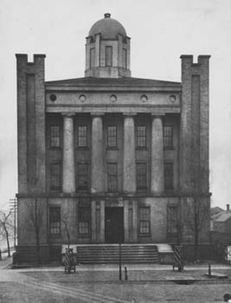Case Western Reserve University School of Medicine - Medical Department of Western Reserve College 1843-1885 located at E. 9th and St. Clair.
