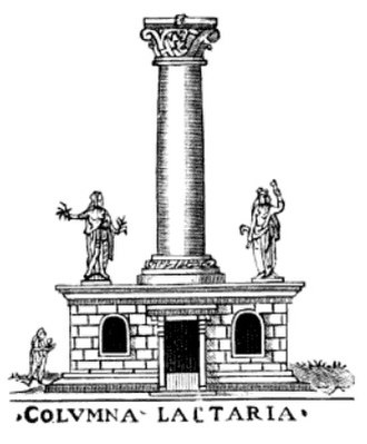 Columna Lactaria - A highly conjectural drawing of the Columna Lactaria