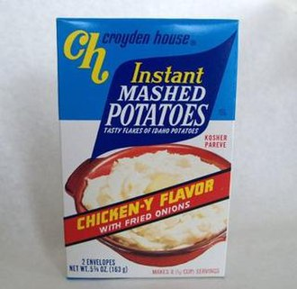 Instant mashed potatoes - A modern package of instant mashed potatoes
