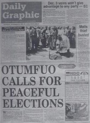 Daily Graphic (Ghana) - Front cover of the Daily Graphic on 30 November 1996