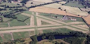 Derby Airfield - Derby Airfield Looking East - Summer 2002