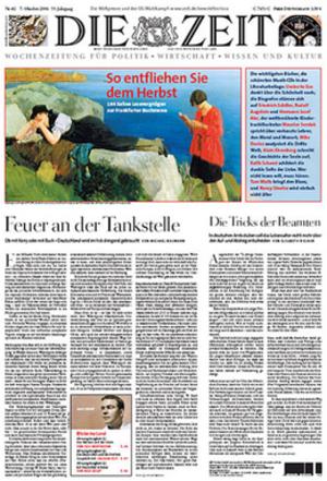 Die Zeit - Image: Die Zeit front page