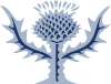Britannica's logo of a blue thistle