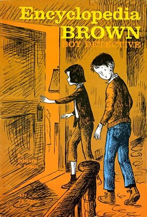 Encyclopedia Brown - Cover of the first edition of Encyclopedia Brown: Boy Detective (1963)