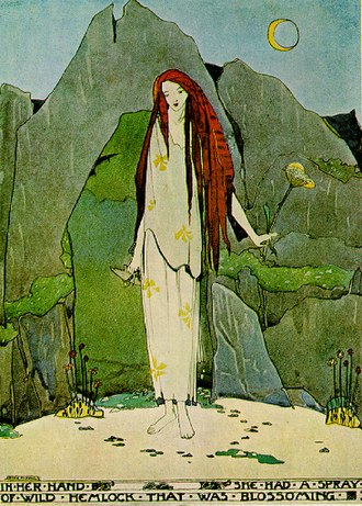 A House of Pomegranates - Illustration of the witch from The Fisherman and his Soul