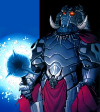 Gazer - Gazer as War, Horseman of Apocalypse. Art by Salvador Larroca.