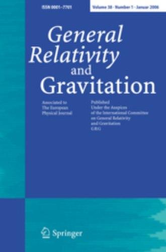 General Relativity and Gravitation - Image: General Relativity and Gravitation
