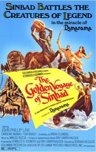 The Golden Voyage of Sinbad - Theatrical release poster by Brian Bysouth