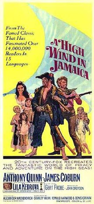 A High Wind in Jamaica (film) - Original film poster by Howard Terpning