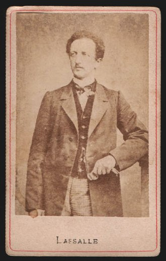 Ferdinand Lassalle - Photo of Ferdinand Lassalle on a carte de visite.