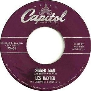 Sinner Man - Image: Les Baxter Sinner Man 1956