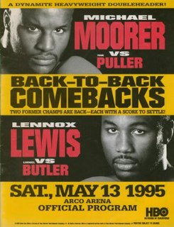 Lennox Lewis vs. Lionel Butler Boxing competition