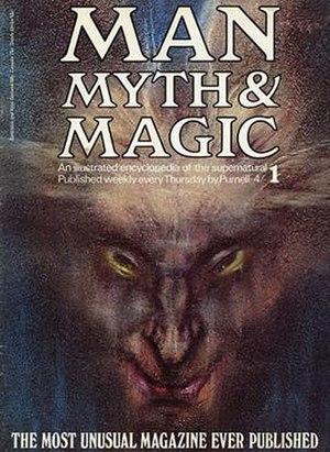 Man, Myth & Magic (encyclopedia) - First Edition Cover. Painting by Austin Osman Spare