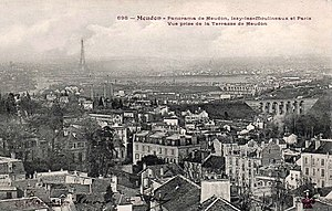 Harvest Threshing - Panorama Meudon, Issy-les-Moulineaux and Paris, View from Terrasse de Meudon, early 20th-century postcard