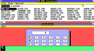 Windows 1.0 - Multitasking capabilities of Microsoft Windows 1.01 released in 1985, here shown running the MS-DOS Executive and Calculator programs