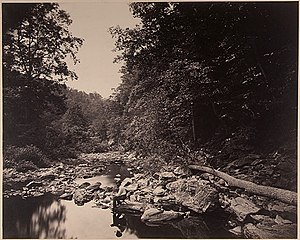 Wissahickon Creek - Wissahickon Creek near Philadelphia photo by John Moran, c. 1865