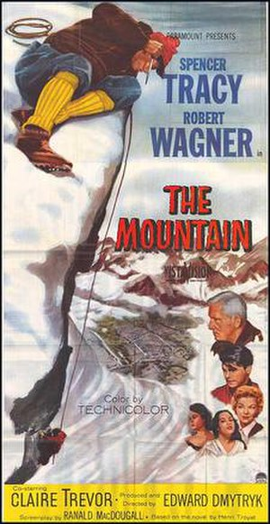 The Mountain (1956 film) - Theatrical release poster