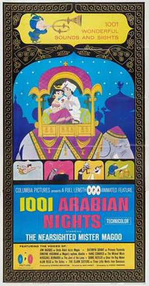 1001 Arabian Nights (1959 film) - Original theatrical poster