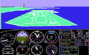 History of Microsoft Flight Simulator - Image: Msfs 1.00 000