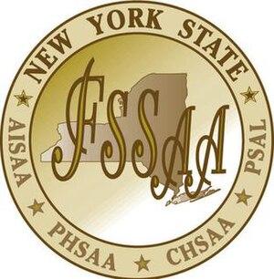 New York state high school boys basketball championships - NYSFSSAA logo