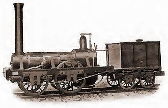 "Matthias W. Baldwin - Baldwin's ""Old Ironsides"" engine, manufactured in 1832."