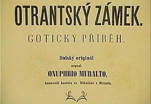 Castle of Otranto (film) - Czech title card