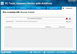 PC Tools (company) - Screenshot of PC Tools Spyware Doctor with AntiVirus