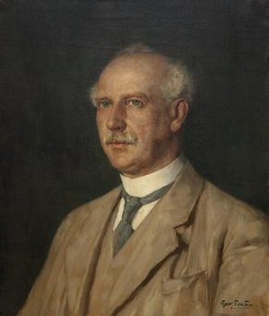 C. U. Ariëns Kappers - Portrait of C.U. Ariëns Kappers by Georg Rueter. Photographic reproduction by Ton Put