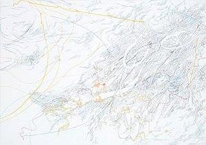 Nanne Meyer - Papierperspektive, 2010, Color- and Lead-Pencils, Ink on Paper, 70x100cm