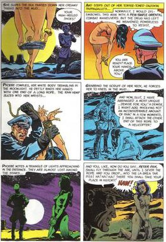 """Frank Springer - Panels from """"The Adventures of Phoebe Zeit-Geist"""" by Springer and writer Michael O'Donoghue."""