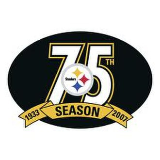 2007 Pittsburgh Steelers season - Steelers 75th Anniversary Logo