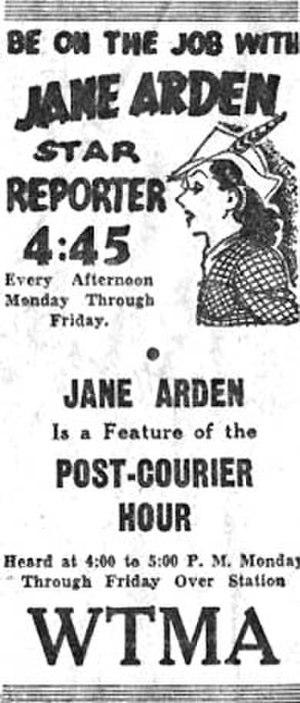 Jane Arden (comics) - Image: Radiojanearden