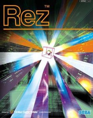 Rez (video game) - Image: Rez Box Art