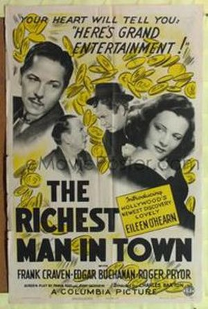 Richest Man in Town - Theatrical poster for the film