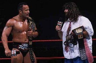 Survivor Series (1998) - The Rock and Mankind faced each other in the tournament final.