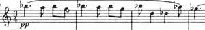 Symphony No. 14 (Shostakovich) - The opening bars of the symphony, played by the first violins.